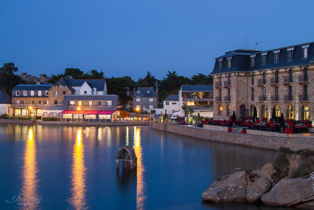 Heure bleue sur Saint-Guirec